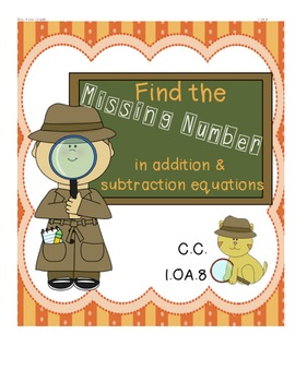 Free Find the Missing Number 1.OA.8