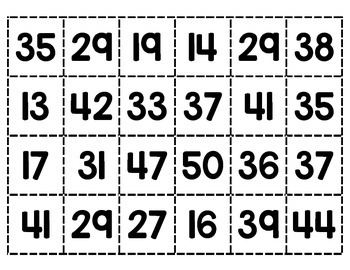 Find the Missing Number (2 digits)