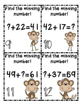 Find the Missing Number-Addition