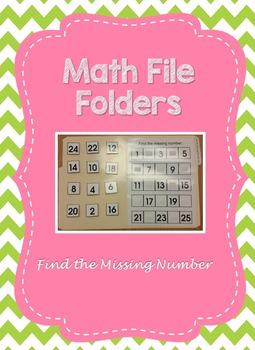 Find the Missing Number- File Folder Activity