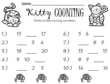 Find the Missing Number: Kitty Counting