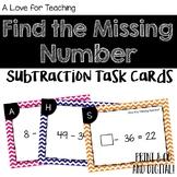 Find the Missing Number Subtraction Task Cards {Print & Go + Digital}