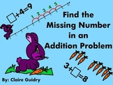 Find the Missing Number, Unknown Number in an Addition Problem First Grade