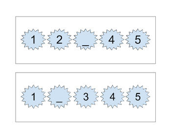 Find the Missing Numbers Task Cards