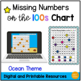 Find the Missing Numbers on the 100s Chart Ocean Themed Interactive Math Game