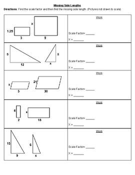 Find the Missing Side Lengths
