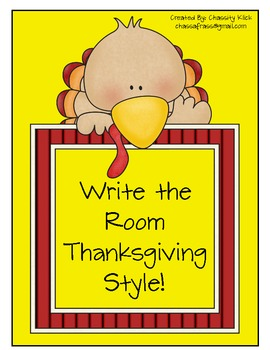 Find the Missing Turkeys! Write the room Activity