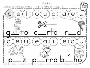 Find the Missing Vowel