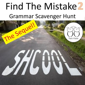 Find the Mistake 2 Scavenger Hunt Students Correct Real World Mistakes