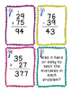 Find the Mistake Cards for Double Digit Addition and Subtraction WITH regrouping