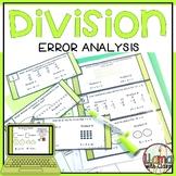Division Strategies Error Analysis Task Cards