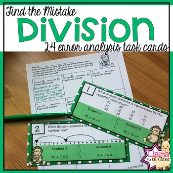 Find the Mistake: Division Strategies