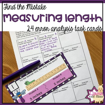 Find the Mistake: Measuring Length Task Cards