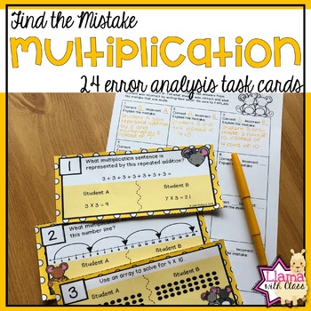 Find the Mistake: Multiplication Strategies