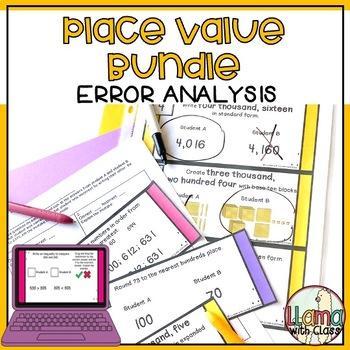 Find the Mistake: Place Value Bundle {Task Cards}