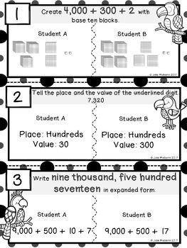 Place Value Error Analysis Task Cards Bundle
