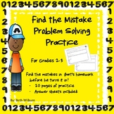 Find the Mistake Problem Solving Practice