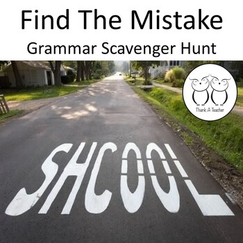 Find the Mistake Scavenger Hunt Real World Mistakes for St
