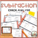 Subtraction Error Analysis Task Cards