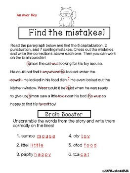 Find the Mistakes Freebie!