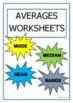 Averages Mode Median Mean Range