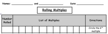 Find the Multiples of a Number:  Printable Center Game
