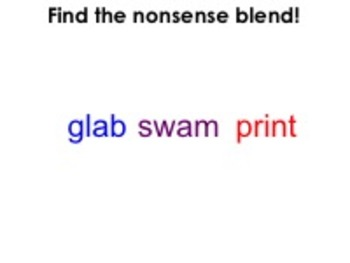 Find the Nonsense Blend