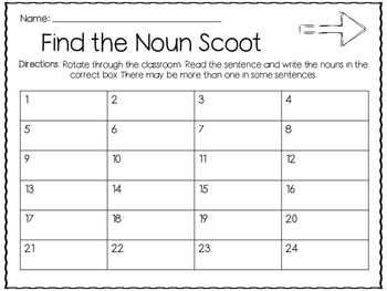 Find the Noun Scoot