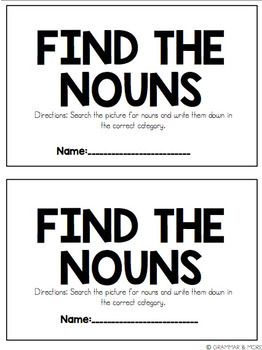Find the Nouns! ::Freebie::