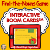 Nouns, Find the Nouns Game, Boom Cards™, Grammar in Context