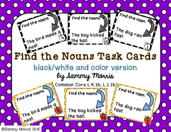 Find the Nouns Task Cards