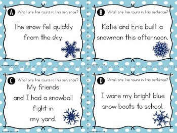 Find the Nouns Task Cards {Winter Edition}