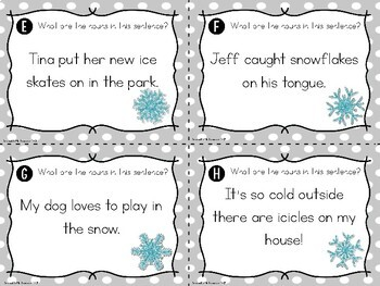 Noun Search Task Cards {Winter Edition}