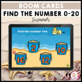Find the Number 0 to 20 Summer BOOM LEARNING CARDS Activity