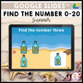 Find the Number 0 to 20 Summer Google Slides™ Activity