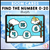 Find the Number 0 to 20 Winter BOOM LEARNING CARDS Activity
