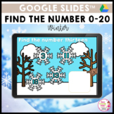 Find the Number 0 to 20 Winter Google Slides™ Activity
