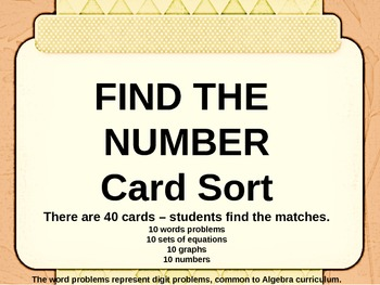 Digit Number Puzzles Card Sort