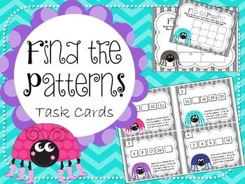 Find the Number Pattern Task Cards. Patterns, Skip Countin
