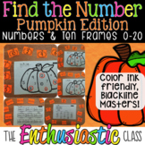 Find the Number: Pumpkin Edition-Numbers & Ten Frames 0-20