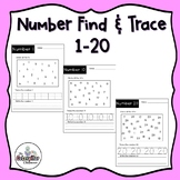 Find the Number and Trace-Numbers 1-20-Distance Learning