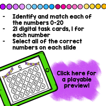 Find the Numbers 0-20 Boom Cards!