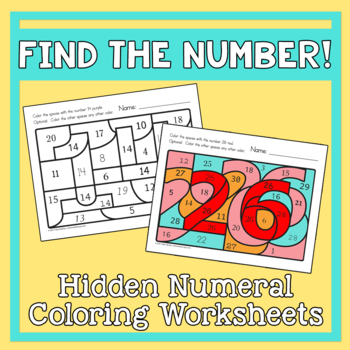 Find the Number! 1-30 Hidden Numerals
