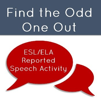 Odd One Out: Understanding Reported Speech Worksheet