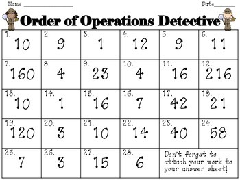 Find the Order! Order of Operations Task Cards/SCOOT