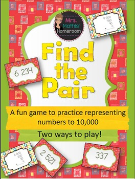 Find the Pair: Representing Numbers to 10,000