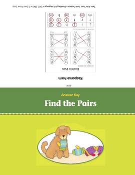 Find the Pairs (Take It to Your Seat Centers)