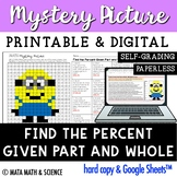 Find the Percent (Given Part and Whole): Math Mystery Pict