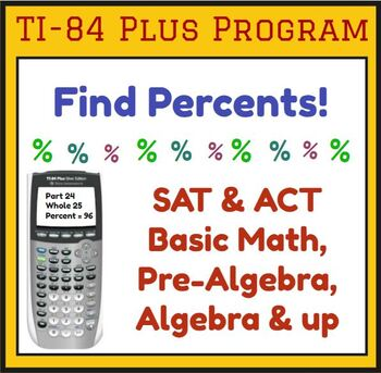 Find the Percent - TI-84 Plus Program - from Percent Pack