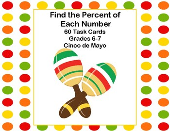 Find the Percent of Each Number and Round to the Nearest Tenth-60 Task Cards